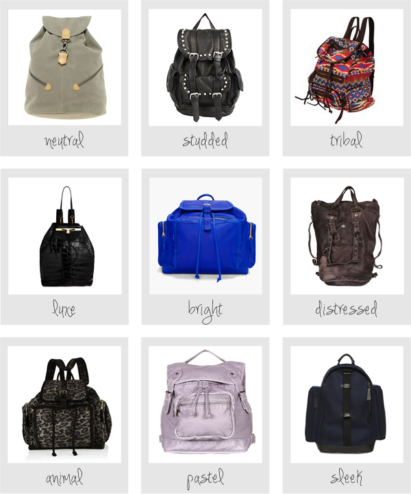 Style Therapy picks for backpacks