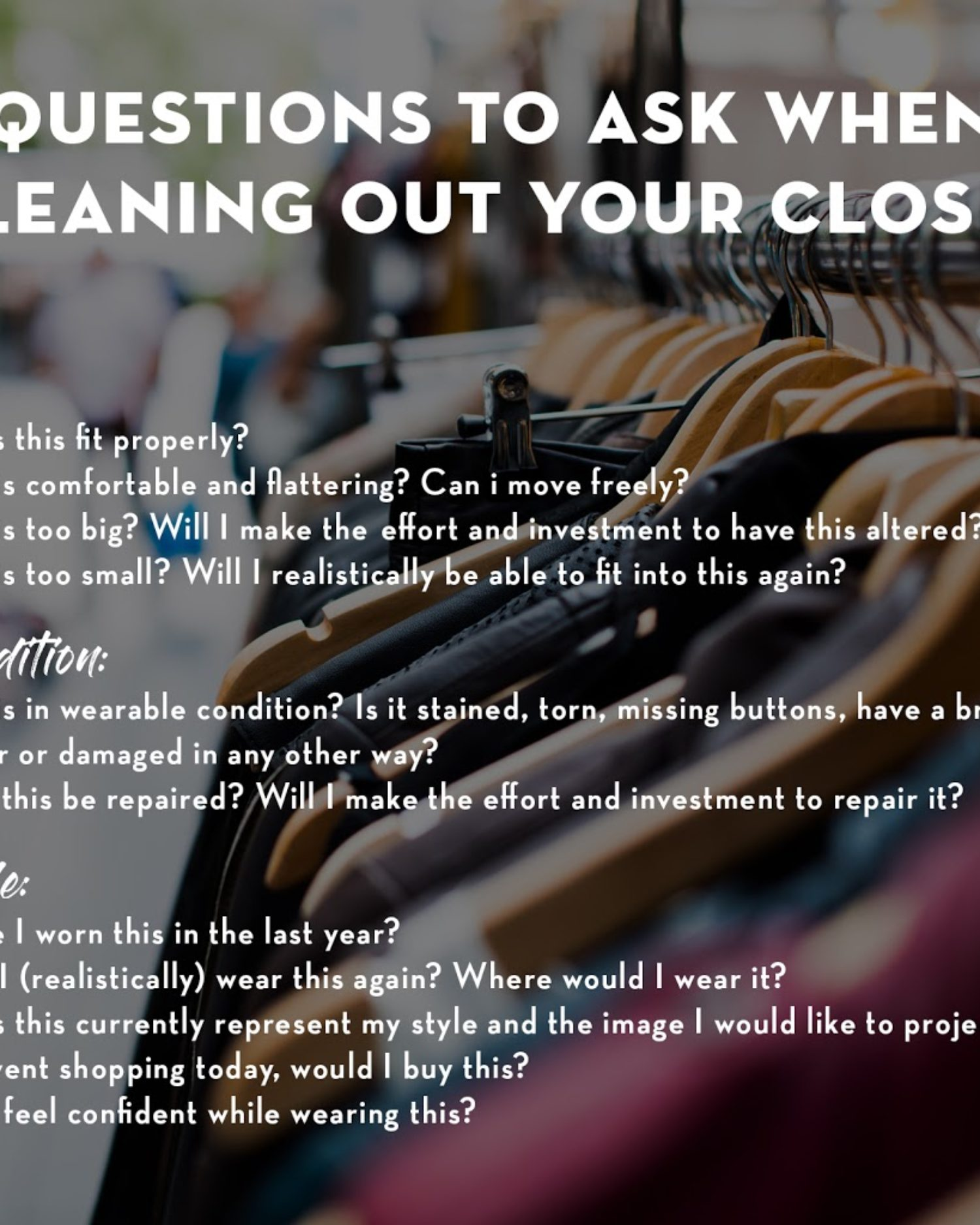 New Year's Resolutions- The Closet Cleanse